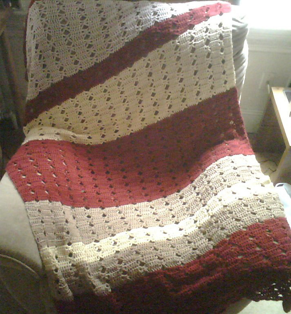 Ravelry Fast And Easy Light Lacy Afghan Pattern By Mainstays