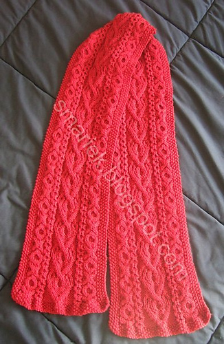 Ravelry Saint Albans Valentine Cable Scarf Pattern By Smariek
