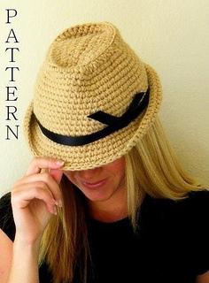 Ravelry  Fedora Hat Crochet Pattern pattern by Rebecca Smit eb6c3abf433