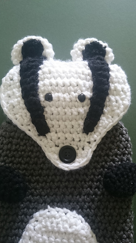 Ravelry Badger Hot Water Bottle Cover Pattern By Karen Goss