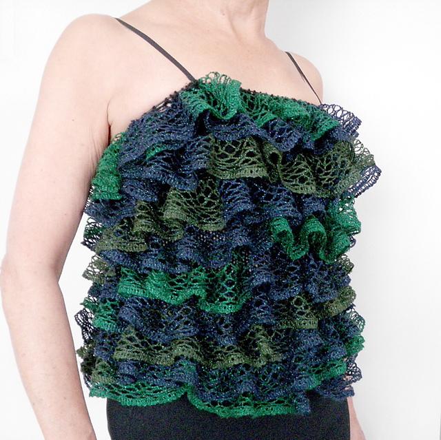 Ravelry: Ruffled Cami pattern by Margaret Zellner