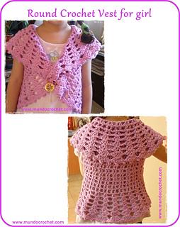 a71219da075b99 Ravelry  Round crochet vest for girl pattern by Soledad Z