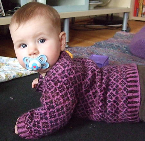 Ravelry: Baby's First Fair Isle Sweater pattern by Susan Gutperl