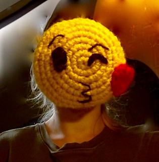 Ravelry: Facebook Kiss Emoji pattern by The Crochet Cat