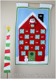 Christmas Countdown Calendar pattern by The Left-Handed Crocheter