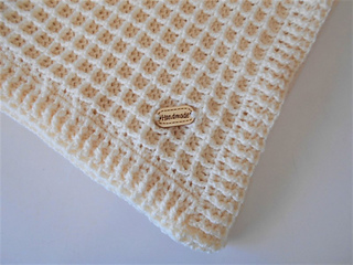 44a3f5a499d Ravelry  Waffle Stitch Baby Blanket pattern by Shelley