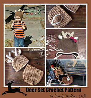 patterns   Family Traditions Crafts and 1 more...   Deer Diaper Cover and  Hat Set 21be62c1af68