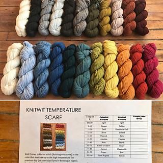 Ravelry Knitwit Temperature Scarf Pattern By Suzie Von Reyn