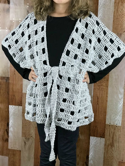 Ravelry Belted Poncho Pattern For Kids Pattern By Lisa Rollins