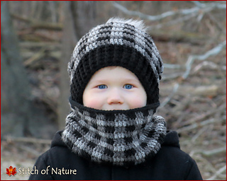 Ravelry  The Dublin Plaid Slouchy Hat and Cowl pattern by Jenia Daugherty c3764caeb4f