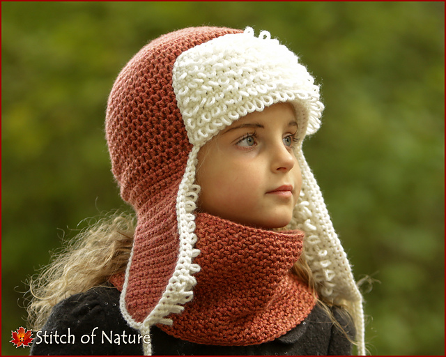 Ravelry  The Yukon Trapper Hat and Cowl pattern by Jenia Daugherty a716d5e308f