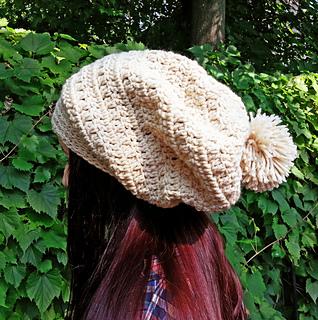 Ravelry Crochet Slouchy Pom Pom Beanie Pattern By Jessica Lee