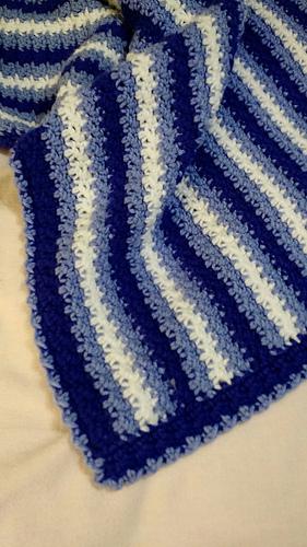Ravelry No Holes Baby Blanket Pattern By Linda Davie