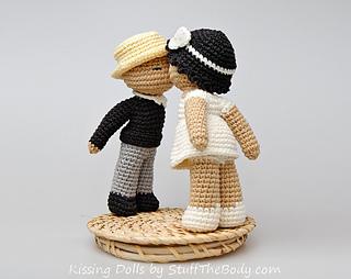 Amigurumi Pattern Dolls : Ravelry kissing dolls amigurumi pattern by stuffthebody
