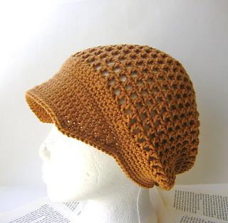 Ravelry  Crochet Mesh Hat with Brim 27c54dac017