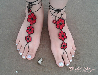 Smith Flower Sue Pattern RavelryBeaded Barefoot Sandals By Ygf7b6y