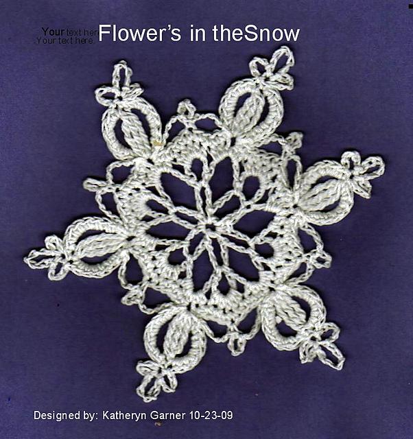 Ravelry Snowflake Flowers In The Snow Pattern By Katheryn Garner