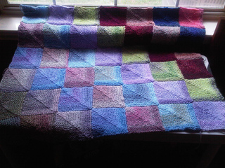 Ravelry 4 Patch Mitered Square Afghan Pattern By Sue Ann