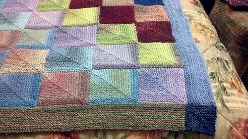 Knitting Pattern For Peggy Squares : Ravelry: Generic Mitered Square Blanket pattern by Sue Ann (Suna) Kendall