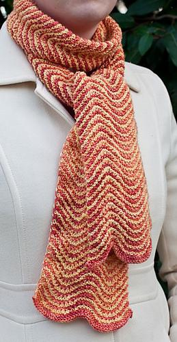 Ravelry Garter Stitch Chevron Scarf Pattern By Sundara Yarn Extraordinary Chevron Scarf Knitting Pattern