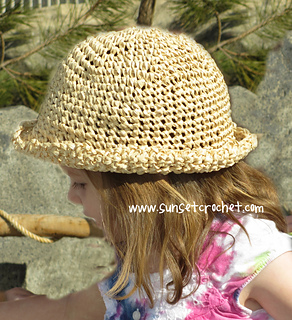 325af3db6ff patterns   Bonnie Potter s Ravelry Store.   Rolled Edge Summer Straw Hat