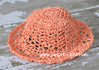af649766ce2 Ravelry  Peaches and Cream Straw Hat pattern by Bonnie Potter