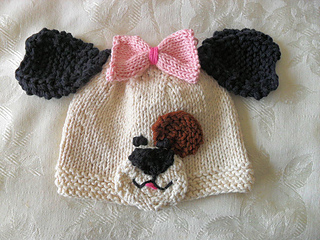 Dog Baby Hat Knitting Pattern : Ravelry: Puppy Dog Baby Hat-Knitted Animal Hat pattern by Susan Gardner