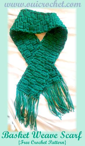 Ravelry Basket Weave Scarf Pattern By Susie Oui Crochet