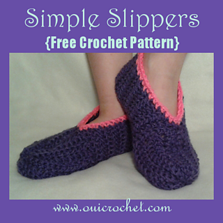 Ravelry All Size Simple Slippers Pattern By Susie Oui Crochet