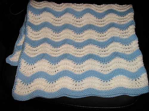 Ravelry Favourite Feather And Fan Baby Blanket Pattern By Suzanne Smart