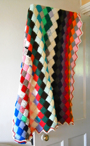 Ravelry Tunisian Crochet Entrelac Throw Pattern By Lion