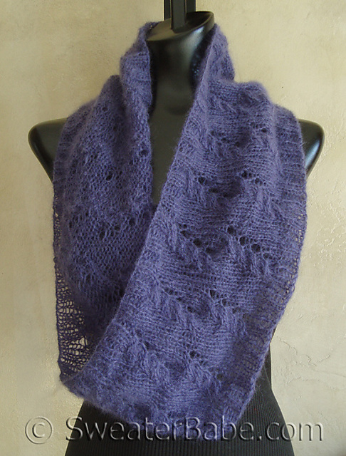 Ravelry: #104 Mohair Lace Mobius Cowl pattern by SweaterBabe