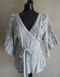 12b93d047d1f Ravelry   69 Cables and Lace Kimono Wrap Cardigan pattern by SweaterBabe