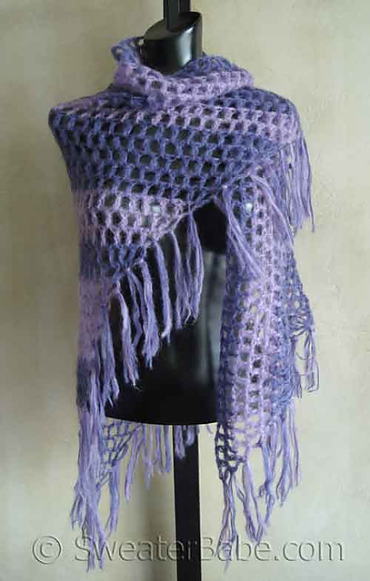 Ravelry 40 Simple Crochet Shawl Pattern By Sweaterbabe