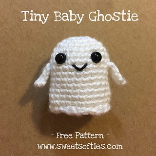 http://www.sweetsofties.com/2017/08/tiny-baby-ghostie-free-crochet-pattern.html