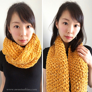 91adb6a853 Ravelry  Gold Luxe Cowl pattern by Sweet Softies