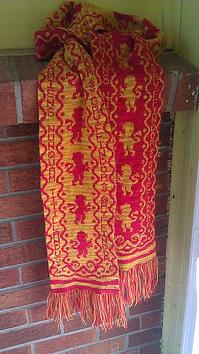 Ravelry Gryffindor Scarf Chart Only Pattern By Tracy Leming
