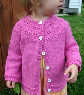 4f6579e32 Ravelry  Eyelet Yoke Baby Cardigan pattern by Carole Barenys