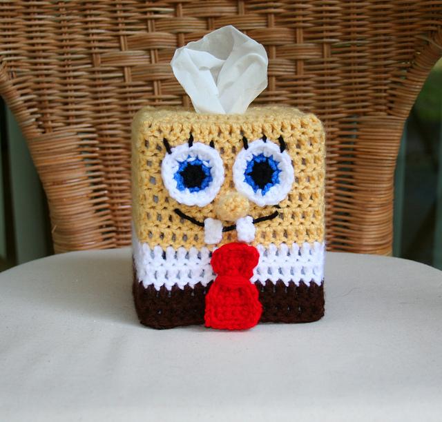 Ravelry Spongebob Squarepants Tissue Box Cover Pattern By Megan Denham