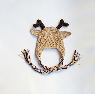 Ravelry  Reindeer Hat with Antlers pattern by Megan Denham fa3a8ca585e
