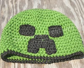 710eb8e83b0 Ravelry  Minecraft Creeper Hat pattern by Rachelle Bowman