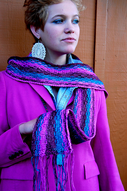 ravelry hipster scarf pattern by gina wilde