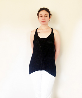 Black Linen Tank Top pattern by Tanya Alpert