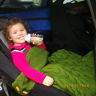 Ravelry Car Seat Blanket For Baby And Toddler Pattern By Christina