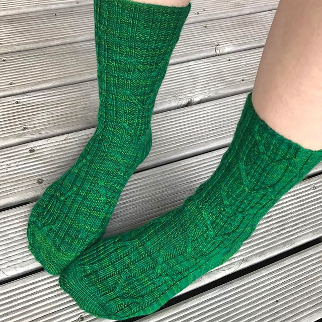 Dawlish socks knit in Wollmeise