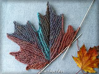 Ravelry: Decorative knitted maple Leaf pattern by Svetlana ...