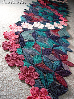 Ravelry Knitted Scarf Sakura Pattern By Svetlana Gordon