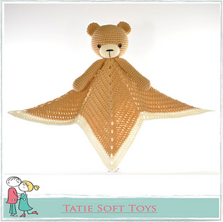 Ravelry: Lovey Blanket Bear Security Blanket Teddy pattern