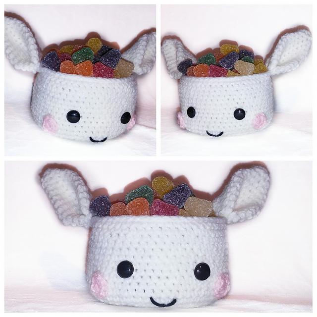 Ravelry: basket rabbit pattern by ternura amigurumi