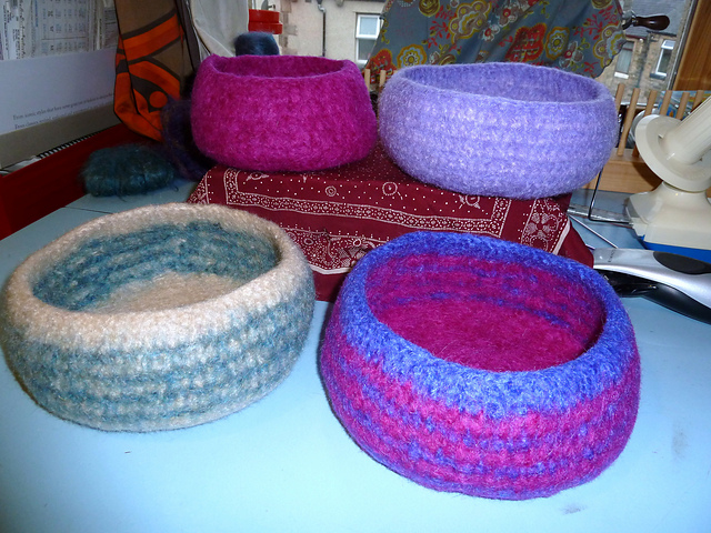 Ravelry Felted Crochet Bowl Pattern By Tess Young